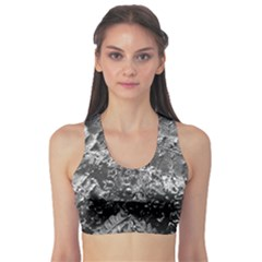 Fern Raindrops Spiderweb Cobweb Sports Bra