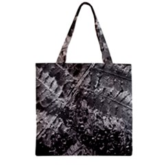 Fern Raindrops Spiderweb Cobweb Zipper Grocery Tote Bag
