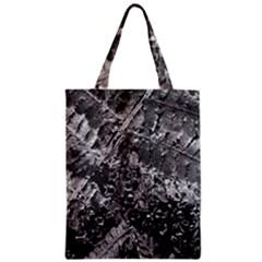 Fern Raindrops Spiderweb Cobweb Zipper Classic Tote Bag