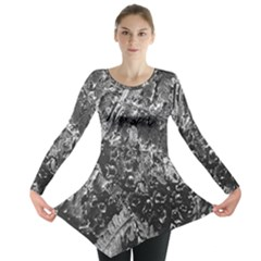 Fern Raindrops Spiderweb Cobweb Long Sleeve Tunic