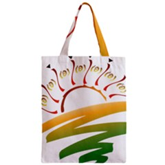 Sunset Spring Graphic Red Gold Orange Green Classic Tote Bag