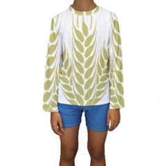 Tree Wheat Kids  Long Sleeve Swimwear