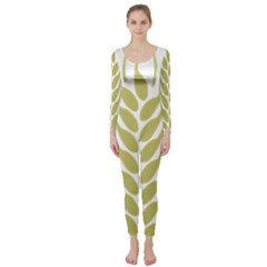 Tree Wheat Long Sleeve Catsuit