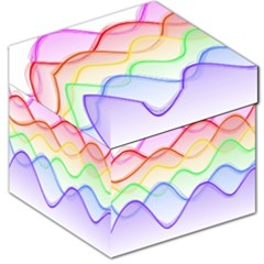 Twizzling Brain Waves Neon Wave Rainbow Color Pink Red Yellow Green Purple Blue Storage Stool 12
