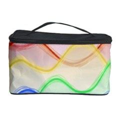 Twizzling Brain Waves Neon Wave Rainbow Color Pink Red Yellow Green Purple Blue Cosmetic Storage Case