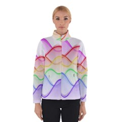 Twizzling Brain Waves Neon Wave Rainbow Color Pink Red Yellow Green Purple Blue Winterwear
