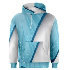 Water Bubble Waves Blue Wave Men s Pullover Hoodie