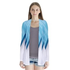 Water Bubble Waves Blue Wave Cardigans