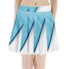 Water Bubble Waves Blue Wave Pleated Mini Skirt