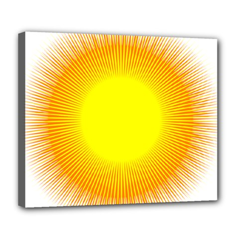 Sunlight Sun Orange Yellow Light Deluxe Canvas 24  x 20