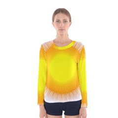 Sunlight Sun Orange Yellow Light Women s Long Sleeve Tee