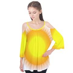 Sunlight Sun Orange Yellow Light Flutter Tees