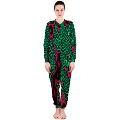 Reaction Diffusion Green Purple OnePiece Jumpsuit (Ladies)