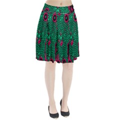 Reaction Diffusion Green Purple Pleated Skirt