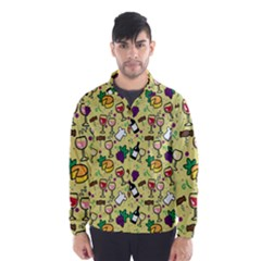 Wine Cheede Fruit Purple Yellow Wind Breaker (Men)