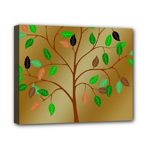 Tree Root Leaves Contour Outlines Canvas 10  x 8