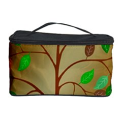 Tree Root Leaves Contour Outlines Cosmetic Storage Case