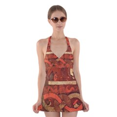 Works From The Local Halter Swimsuit Dress