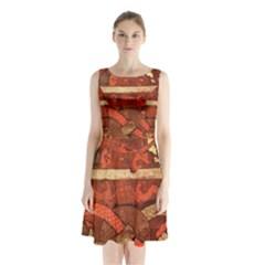 Works From The Local Sleeveless Chiffon Waist Tie Dress