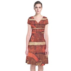 Works From The Local Short Sleeve Front Wrap Dress