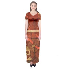 Works From The Local Short Sleeve Maxi Dress