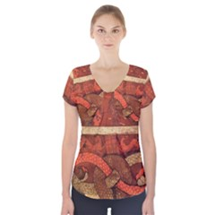 Works From The Local Short Sleeve Front Detail Top