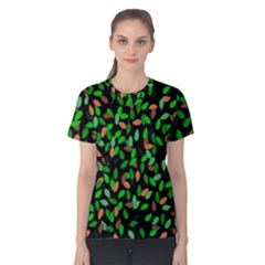 Leaves True Leaves Autumn Green Women s Cotton Tee