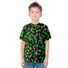 Leaves True Leaves Autumn Green Kids  Cotton Tee