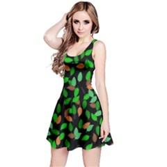 Leaves True Leaves Autumn Green Reversible Sleeveless Dress