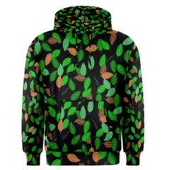 Leaves True Leaves Autumn Green Men s Pullover Hoodie