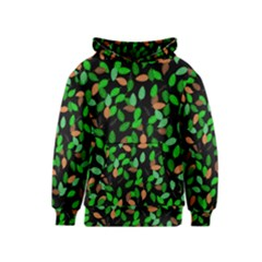 Leaves True Leaves Autumn Green Kids  Pullover Hoodie