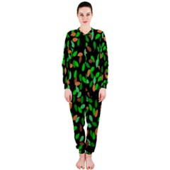 Leaves True Leaves Autumn Green OnePiece Jumpsuit (Ladies)