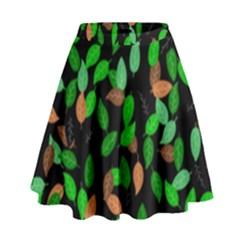 Leaves True Leaves Autumn Green High Waist Skirt