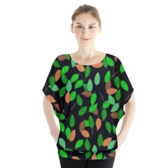 Leaves True Leaves Autumn Green Blouse