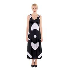 Pattern Background Sleeveless Maxi Dress