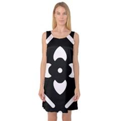 Pattern Background Sleeveless Satin Nightdress