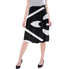 Pattern Background Midi Beach Skirt