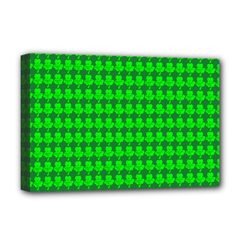St  Patricks Day Green Deluxe Canvas 18  x 12