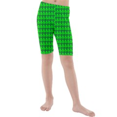 St  Patricks Day Green Kids  Mid Length Swim Shorts
