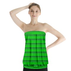 St  Patricks Day Green Strapless Top