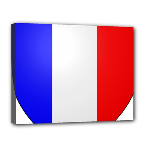 Shield on the French Senate Entrance Canvas 14  x 11