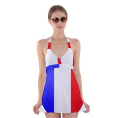 Shield on the French Senate Entrance Halter Swimsuit Dress