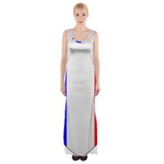 Shield on the French Senate Entrance Maxi Thigh Split Dress