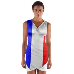 Shield on the French Senate Entrance Wrap Front Bodycon Dress