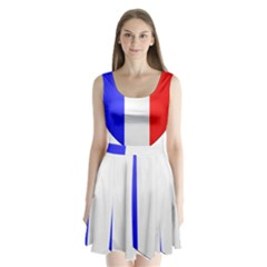 Shield on the French Senate Entrance Split Back Mini Dress