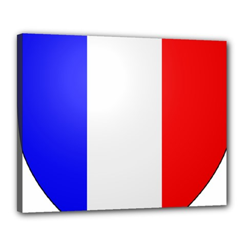 Shield on the French Senate Entrance Canvas 20  x 16