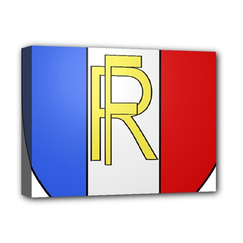 Semi-Official Shield of France Deluxe Canvas 16  x 12