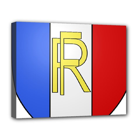 Semi-Official Shield of France Deluxe Canvas 20  x 16