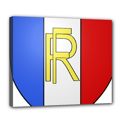 Semi-Official Shield of France Deluxe Canvas 24  x 20