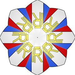 Semi-Official Shield of France Golf Umbrellas